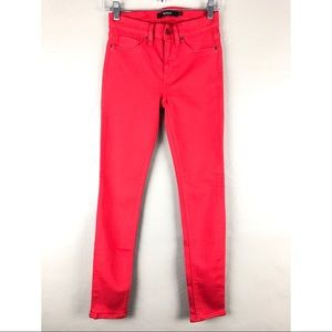 Hudson Red Nico Mid Rise Super Skinny Denim Jeans